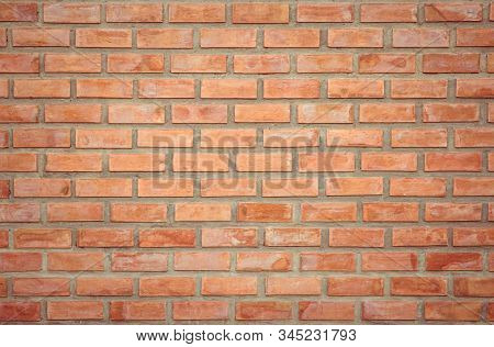 Old Orange Brick Wall Concrete Or Stone Texture Background, Wallpaper Limestone Abstract To Flooring