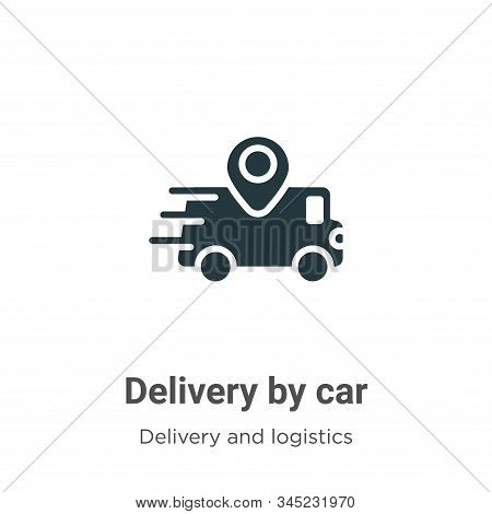 Delivery by car icon isolated on white background from delivery and logistics collection. Delivery b