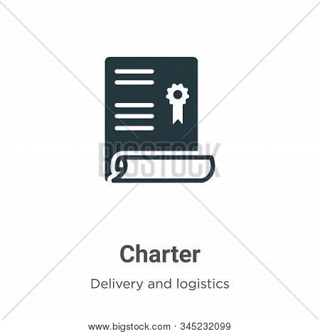 Charter Vector Icon On White Background. Flat Vector Charter Icon Symbol Sign From Modern Delivery A