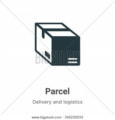 Parcel icon isolated on white background from delivery and logistics collection. Parcel icon trendy