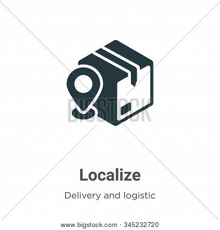 Localize icon isolated on white background from packing and delivery collection. Localize icon trend