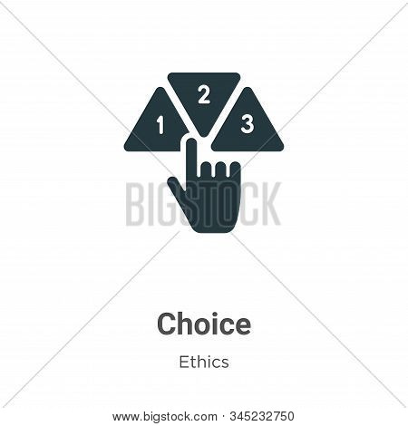 Choice icon isolated on white background from ethics collection. Choice icon trendy and modern Choic