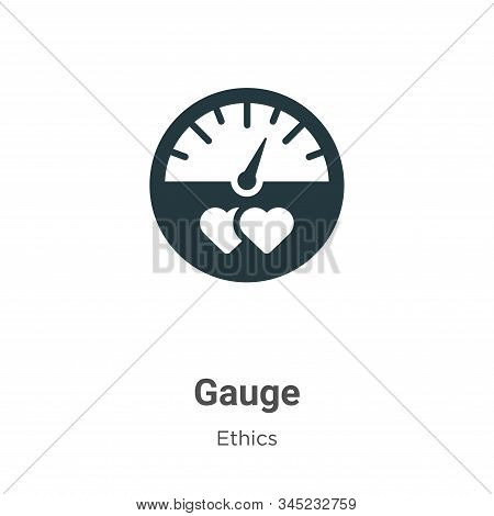 Gauge icon isolated on white background from ethics collection. Gauge icon trendy and modern Gauge s