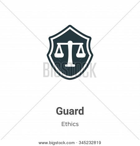 Guard icon isolated on white background from ethics collection. Guard icon trendy and modern Guard s