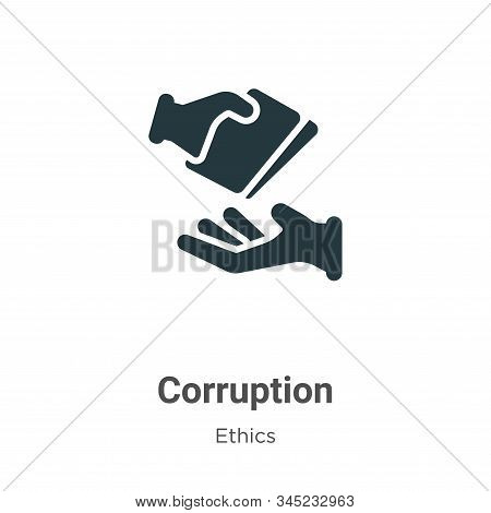 Corruption icon isolated on white background from ethics collection. Corruption icon trendy and mode