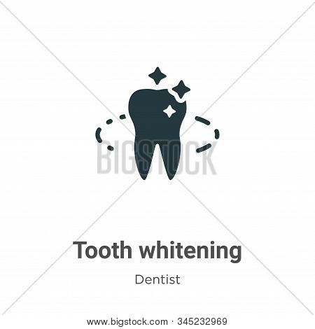 Tooth whitening icon isolated on white background from dentist collection. Tooth whitening icon tren