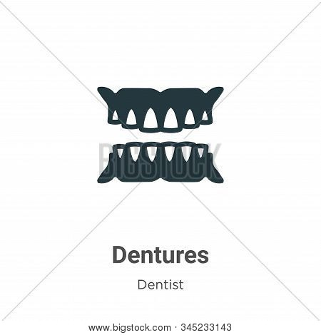 Dentures icon isolated on white background from dentist collection. Dentures icon trendy and modern