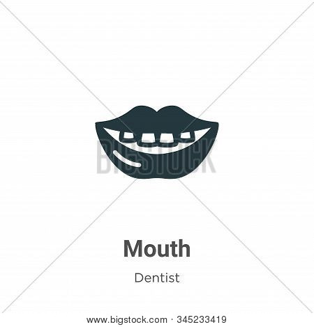 Mouth Vector Icon On White Background. Flat Vector Mouth Icon Symbol Sign From Modern Dentist Collec