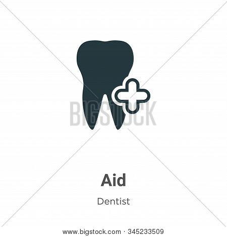 Aid icon isolated on white background from dentist collection. Aid icon trendy and modern Aid symbol