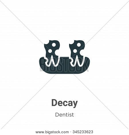 Decay icon isolated on white background from dentist collection. Decay icon trendy and modern Decay