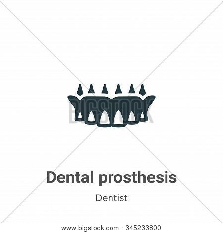 Dental prosthesis icon isolated on white background from dentist collection. Dental prosthesis icon