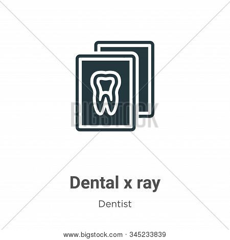 Dental x ray icon isolated on white background from dentist collection. Dental x ray icon trendy and