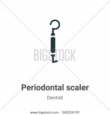 Periodontal scaler icon isolated on white background from dentist collection. Periodontal scaler ico