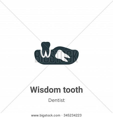 Wisdom Tooth Vector Icon On White Background. Flat Vector Wisdom Tooth Icon Symbol Sign From Modern
