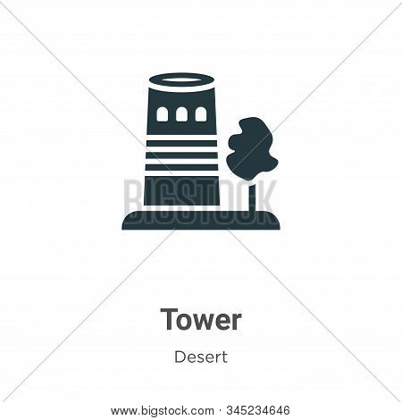 Tower icon isolated on white background from desert collection. Tower icon trendy and modern Tower s