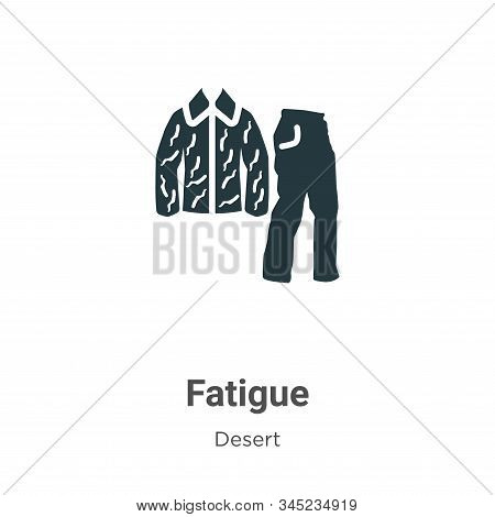 Fatigue icon isolated on white background from desert collection. Fatigue icon trendy and modern Fat