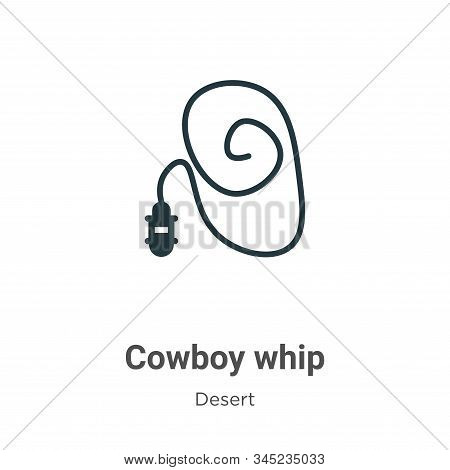 Cowboy whip icon isolated on white background from desert collection. Cowboy whip icon trendy and mo