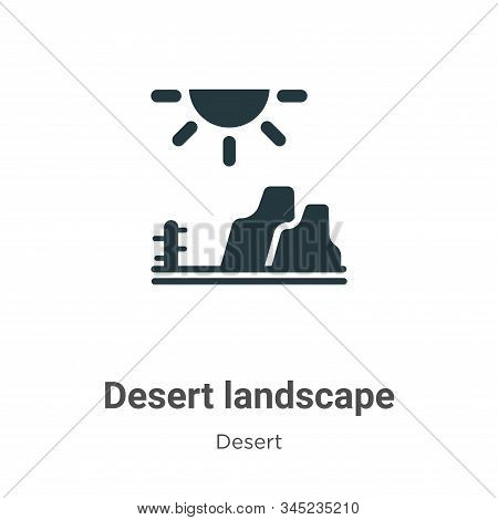Desert landscape icon isolated on white background from desert collection. Desert landscape icon tre