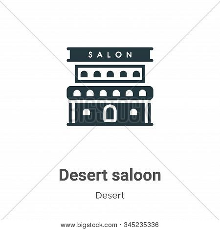 Desert saloon icon isolated on white background from desert collection. Desert saloon icon trendy an