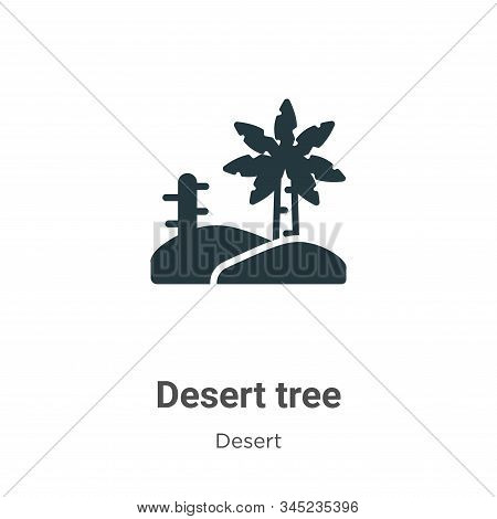 Desert tree icon isolated on white background from desert collection. Desert tree icon trendy and mo