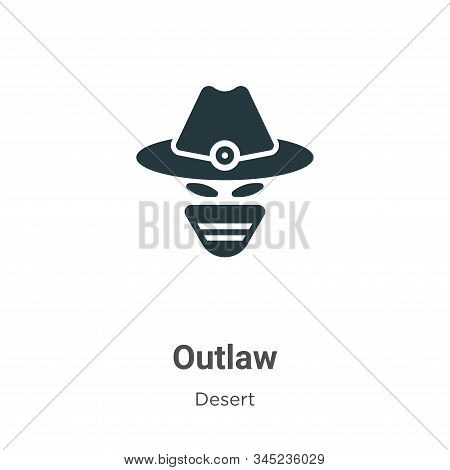 Outlaw icon isolated on white background from desert collection. Outlaw icon trendy and modern Outla