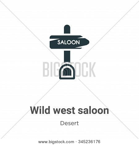 Wild West Saloon Vector Icon On White Background. Flat Vector Wild West Saloon Icon Symbol Sign From