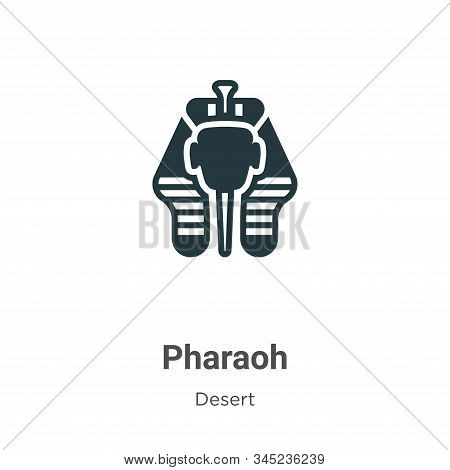 Pharaoh icon isolated on white background from desert collection. Pharaoh icon trendy and modern Pha