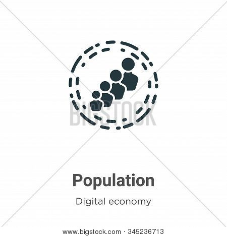 Population Vector Icon On White Background. Flat Vector Population Icon Symbol Sign From Modern Digi