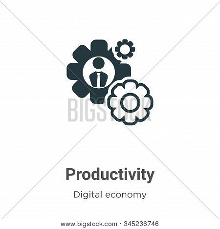 Productivity icon isolated on white background from digital economy collection. Productivity icon tr