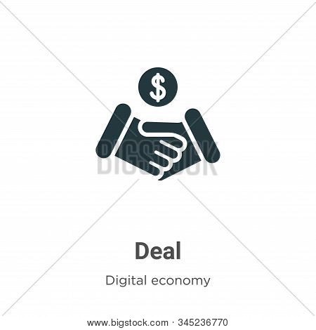Deal icon isolated on white background from digital economy collection. Deal icon trendy and modern