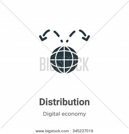 Distribution Vector Icon On White Background. Flat Vector Distribution Icon Symbol Sign From Modern