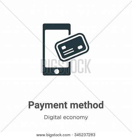 Payment method icon isolated on white background from digital economy collection. Payment method ico