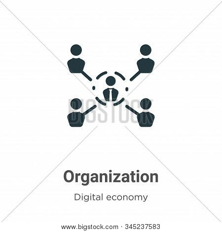 Organization icon isolated on white background from digital economy collection. Organization icon tr