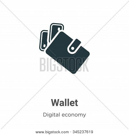 Wallet icon isolated on white background from digital economy collection. Wallet icon trendy and mod