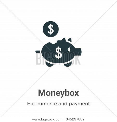 Moneybox icon isolated on white background from e commerce and payment collection. Moneybox icon tre