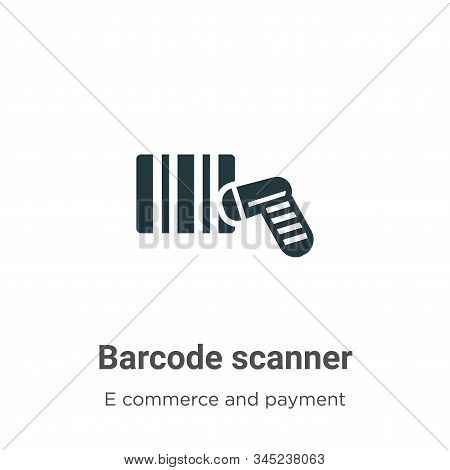 Barcode Scanner Vector Icon On White Background. Flat Vector Barcode Scanner Icon Symbol Sign From M