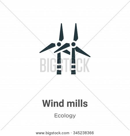 Wind mills icon isolated on white background from ecology collection. Wind mills icon trendy and mod