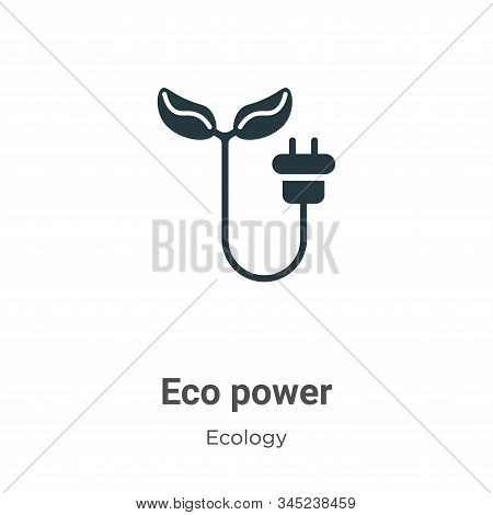 Eco power icon isolated on white background from ecology collection. Eco power icon trendy and moder