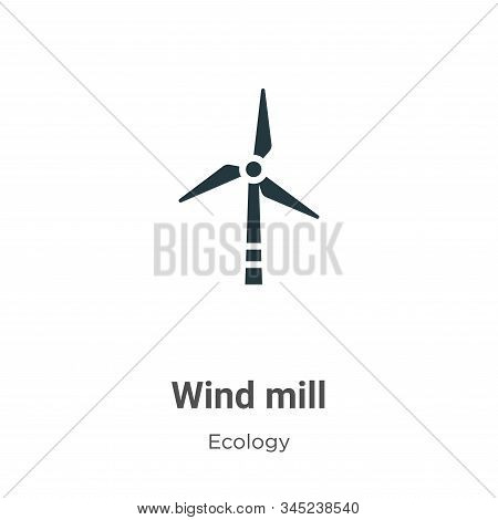 Wind mill icon isolated on white background from ecology collection. Wind mill icon trendy and moder