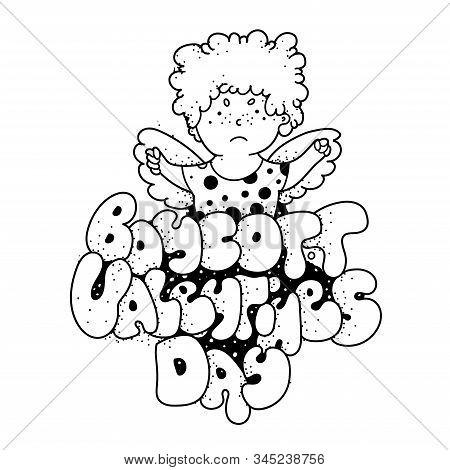 Boycott Valentines Day. Lettering Cartoon Letters Doodles.