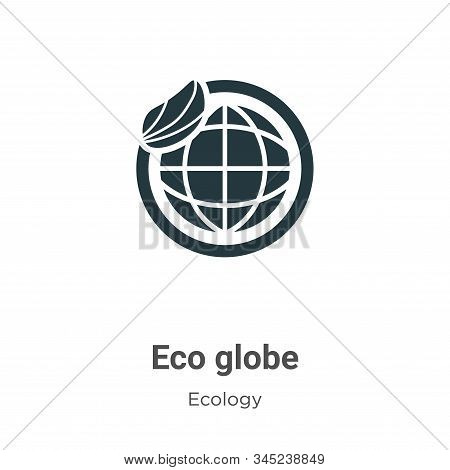 Eco globe icon isolated on white background from ecology collection. Eco globe icon trendy and moder