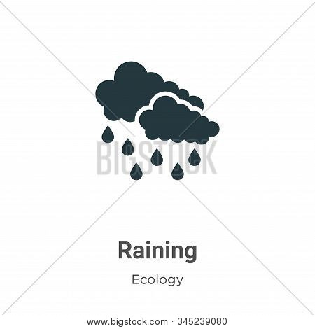 Raining icon isolated on white background from ecology collection. Raining icon trendy and modern Ra