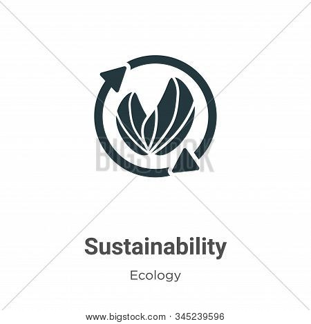 Sustainability icon isolated on white background from ecology collection. Sustainability icon trendy
