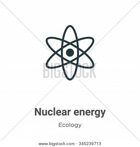 Nuclear energy icon isolated on white background from ecology collection. Nuclear energy icon trendy