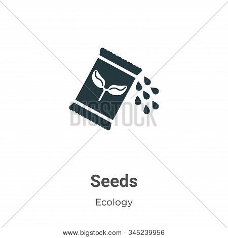 Seeds icon isolated on white background from ecology collection. Seeds icon trendy and modern Seeds