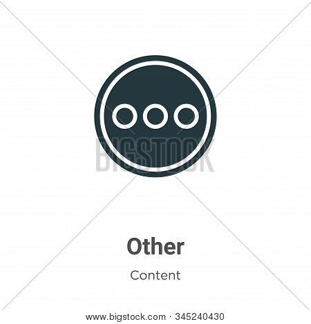 Other icon isolated on white background from content collection. Other icon trendy and modern Other