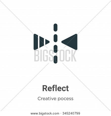 Reflect Vector Icon On White Background. Flat Vector Reflect Icon Symbol Sign From Modern Creative P