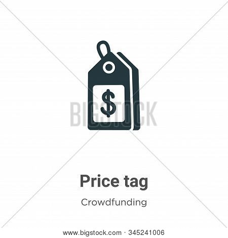 Price tag icon isolated on white background from crowdfunding collection. Price tag icon trendy and