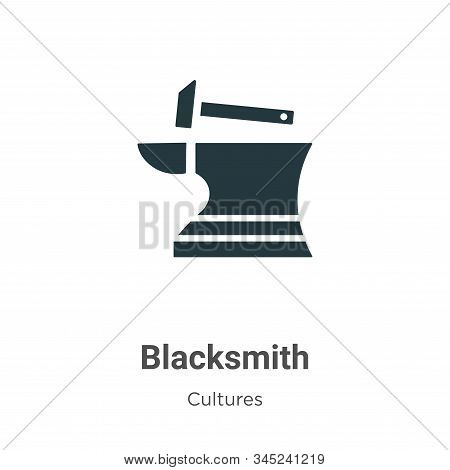 Blacksmith icon isolated on white background from cultures collection. Blacksmith icon trendy and mo