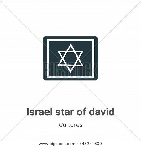 Israel Star Of David Vector Icon On White Background. Flat Vector Israel Star Of David Icon Symbol S